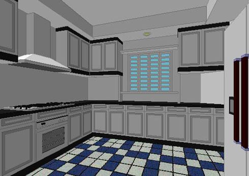Garie sim interior design space plan for Kitchen design simulator